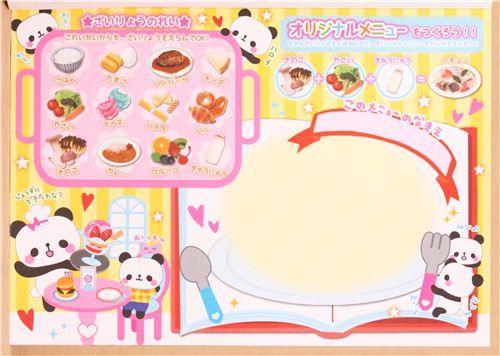 panda chef food memo