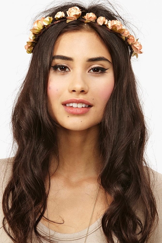 Mulberry Rose Crown - Peach