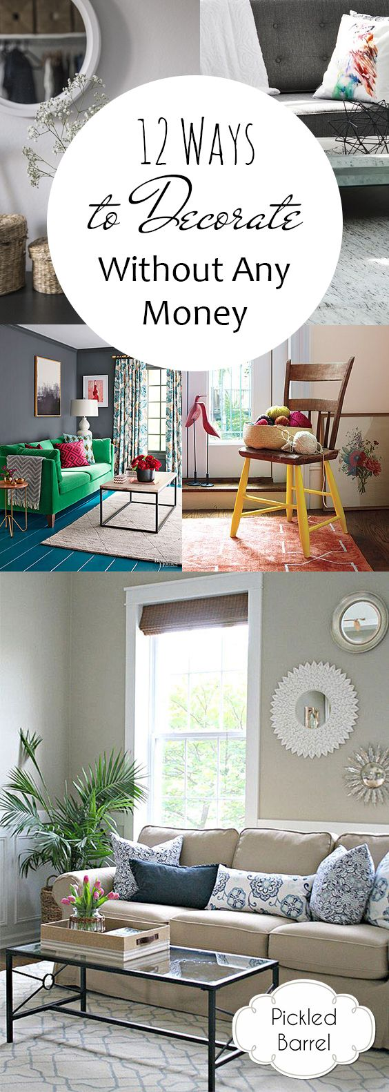12 Ways to Decorate Without Any Money| How to Decorate Withouy Money, Decorating Without Money, Home Decor Tips and Tricks, Home Decor Hacks, Cheap Ways to Decorate, Cheap Home Decorating Hacks, Popular Pin