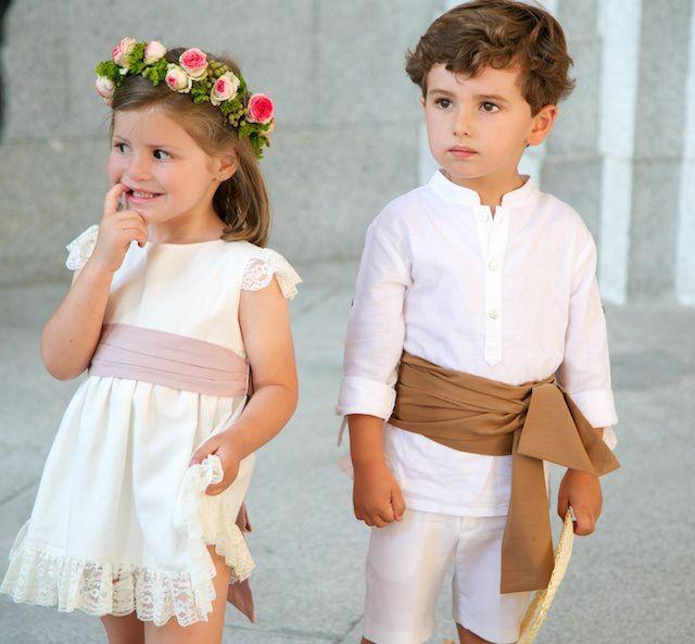como vestir a los pajes de una boda