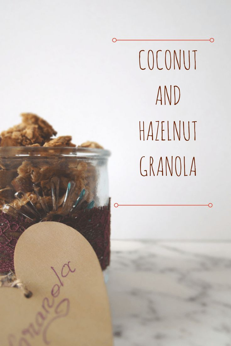 This delicious Coconut and Hazelnut Granola requires just a few ingredients and it's the perfect swap for store-bought cereal, even for kids.