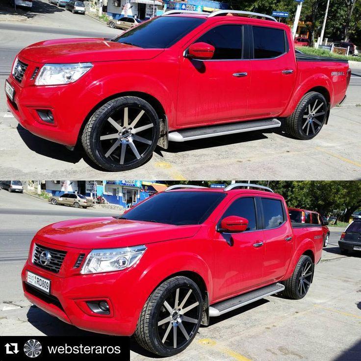 """Que opinan de este estilo? . #Repost @websteraros with @repostapp. ・・・ Nissan Frontier 2016 + Aros 22"""" ONYX 909 #Websteraros #wheels #rims #aros #nissan #frontier @navarard"""