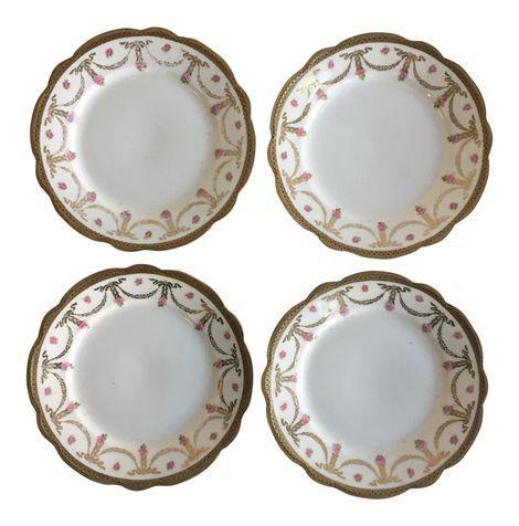 Antique Austria China Plates - Set of 4 on Chairish.com