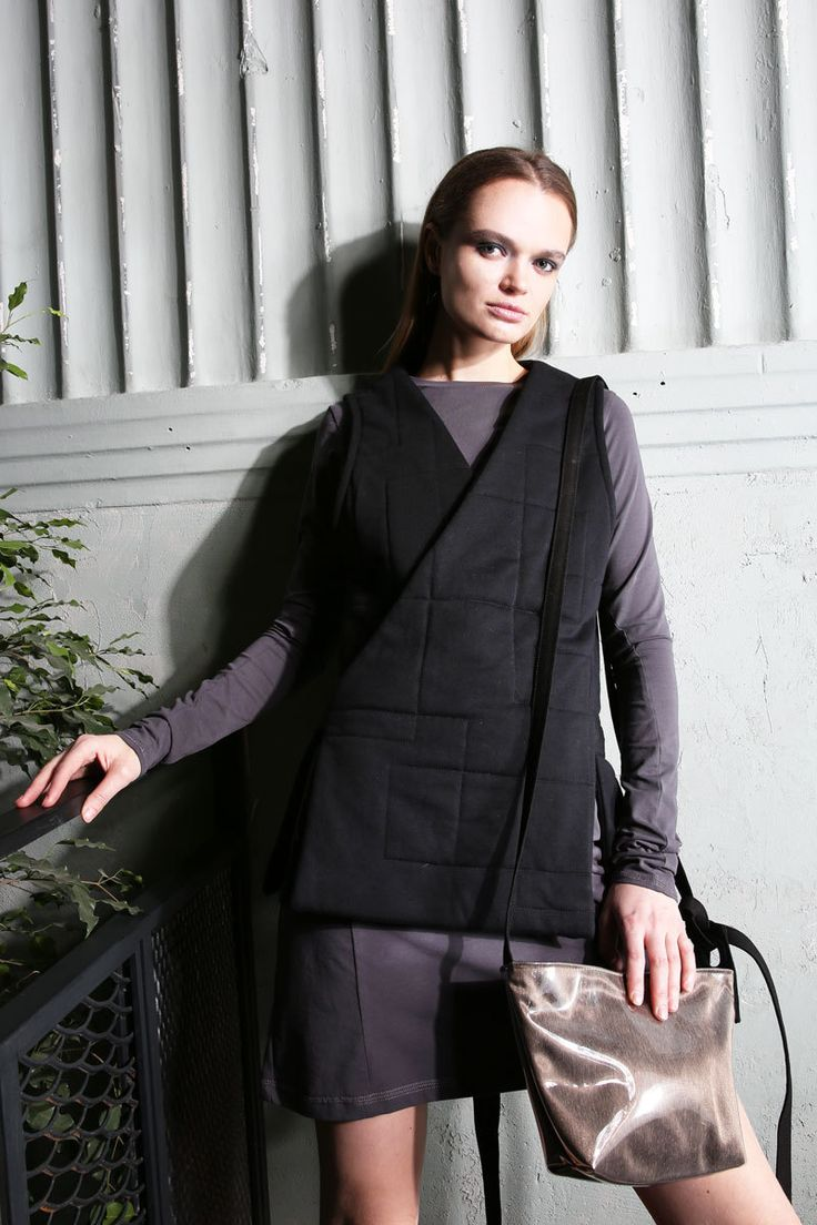 Women's warm black waistcoat    #mariashi #fashion #russiandesigners #nofilter #outfit #outfitoftheday #outfits #outfitpost #clothes #fashionista #fashiondesigner #shopping #style #vest