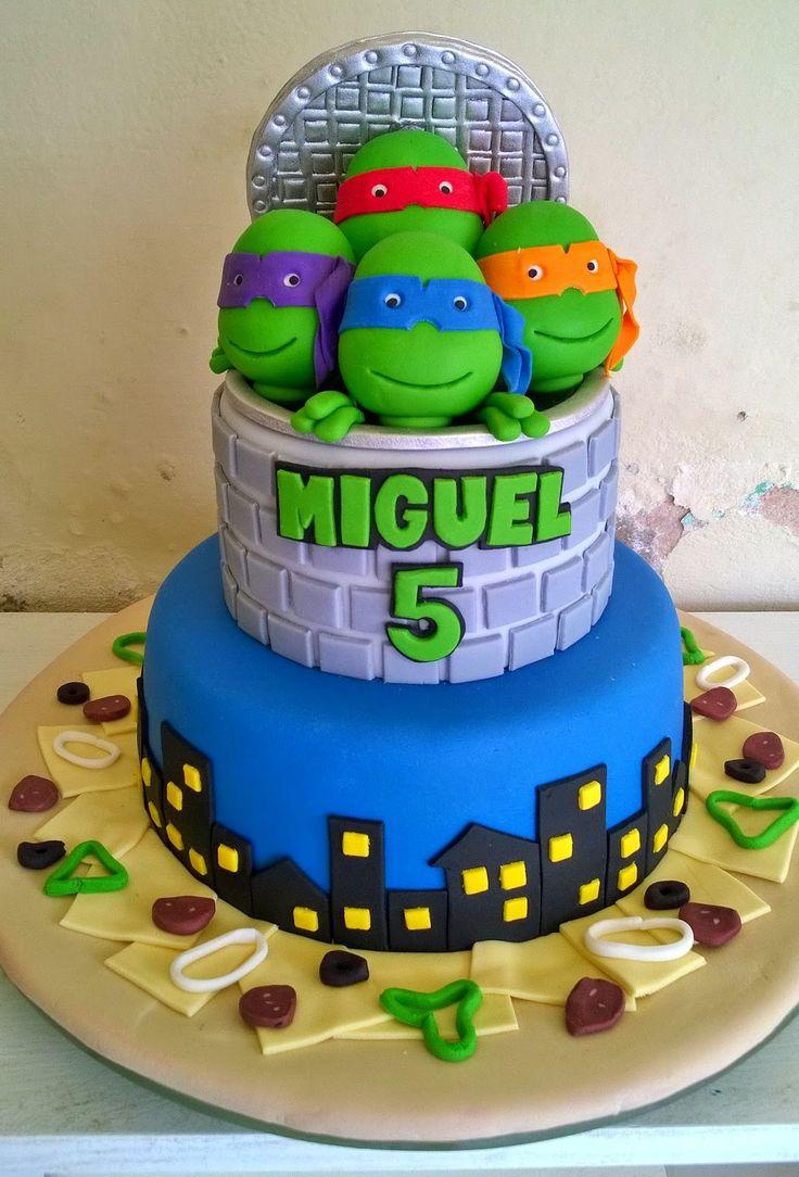 Resultado de imagem para bolo tartarugas ninjas