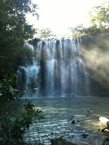 Waterfall near Tamarindo in Guanacaste Costa Rica