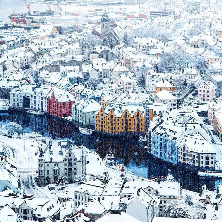 Alesund, Norway by Johan Kistrand