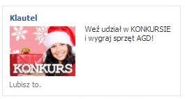 Przykładowa świąteczna kreacja reklamowa konkursu dla Klautela