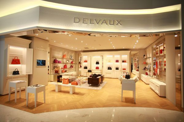 The Delvaux boutiques at Galeries Lafayette Beijing
