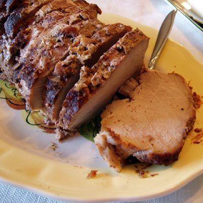 Rôti de longe de porc à la vanille