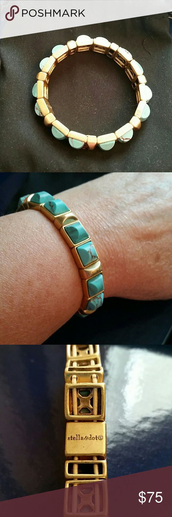 Stella and Dot Torquoise Bracelet Perfect Stella and Dot Bracelet! Torquoise.  So beautiful! I love this! Jewelry Bracelets