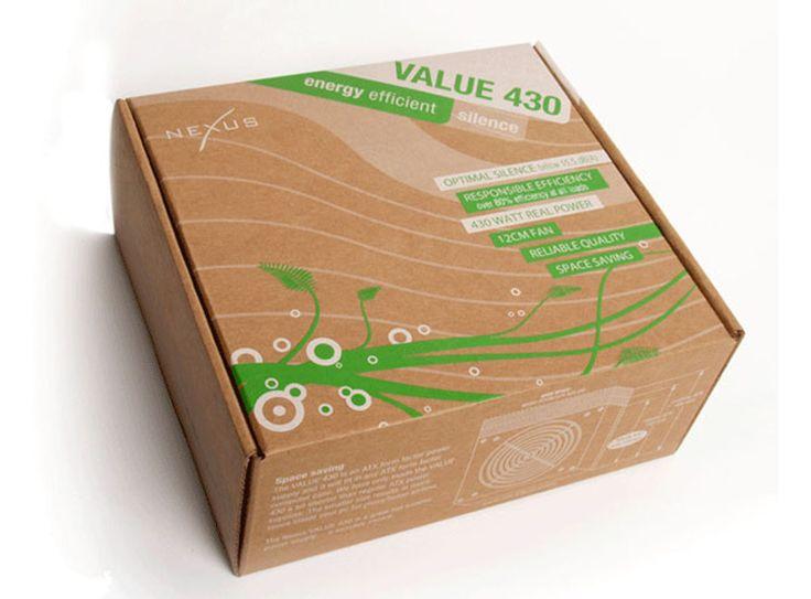 """Value 430— упаковка изгофрокартона длябесшумного вентилятора.  В компьютерной отрасли мы видим много кричащей упаковки. Специалисты, вшутку иливсерьёз, называют эти упаковки как""""кровотечение драконов"""", """"купание русалок"""" и""""лазерные лучи"""".   Value 430— бесшумный вентилятор длясистемных блоков персональных компьютеров, его бесшумность иэкологическое дружелюбие послужили основой длядизайнерского оформления упаковочной коробки. Коробка изготовлена изгофрокартона иоформлена спокойной…"""
