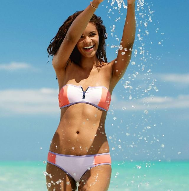 Summer Swimsuit Guide: 12 Hot Trends to Try!: Aerie Zipper Bandeau Bikini Top and Bottom