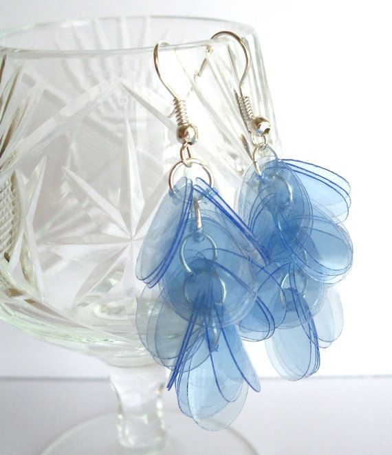 #Ecofriendly earrings made of #recycled plastic bottle by @dekoprojects #UpcycledJewelry