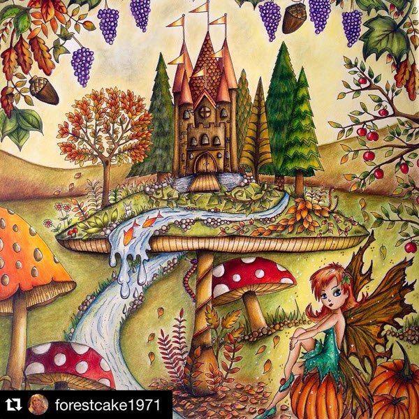Раскраска: Зачарованный лес в 2020 г | Книжка-раскраска ...