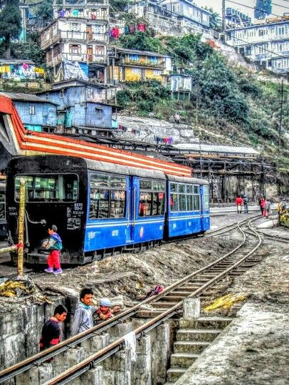 Himalayan Train Station Darjeling India 2010.