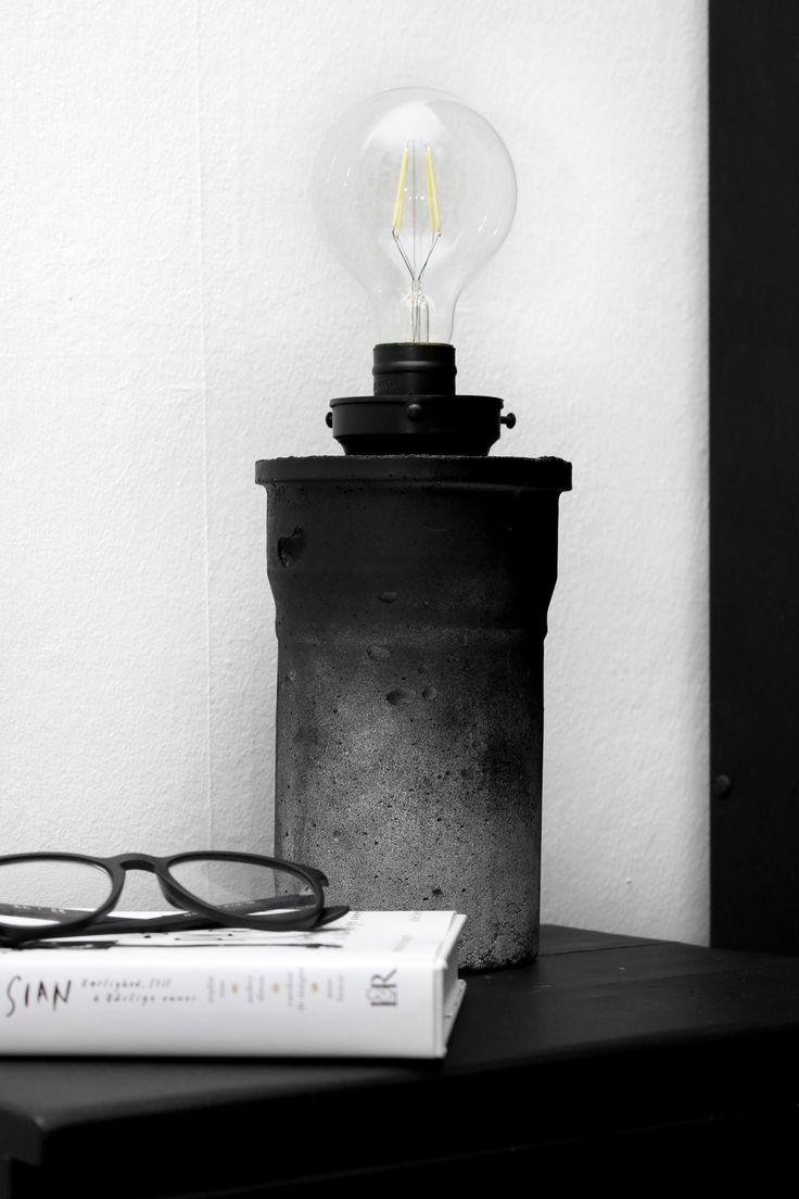 DIY beton bordlampe | Concrete lamp - Katarina Natalie