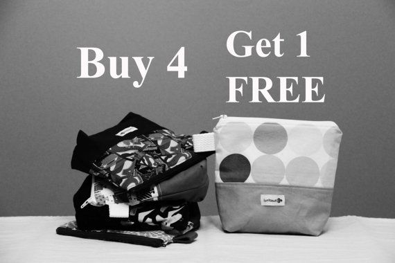 Buy 4 Get 1 FREE - Reusable snack bag, sandwich bag, loot bag, ecofriendly, zippered, nylon lined, $31.80