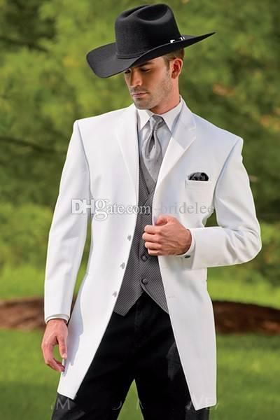 8889d9a9c2b6 Fashion Custom Made Western Tuxedos Cowboy Slim Fit Black Groom Suit  Wedding Suit For Men/Prom Suit Jacket+Pants+Vest