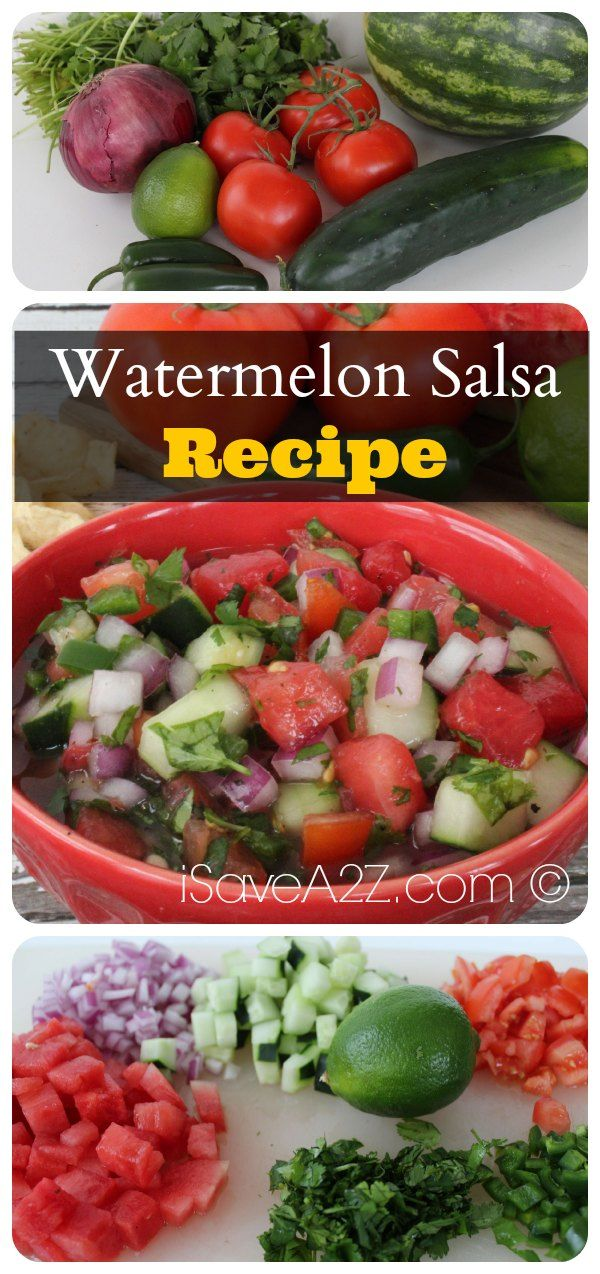 Watermelon Salsa Recipe that has a little taste of sweet and a little spice to create a perfect combo! You have GOT TO TRY this one! It's a big hit with everyone every single time I make ti!!!