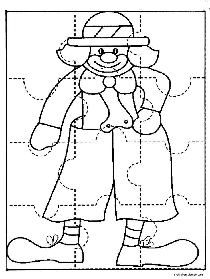 Los Niños: ΠΑΙΔΙ & ΔΗΜΙΟΥΡΓΙΑ : Φτιάχνω το δικό μου puzzle κλόουν