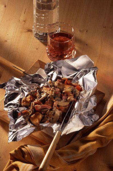 Recepten - Kippenpakketjes op de barbecue