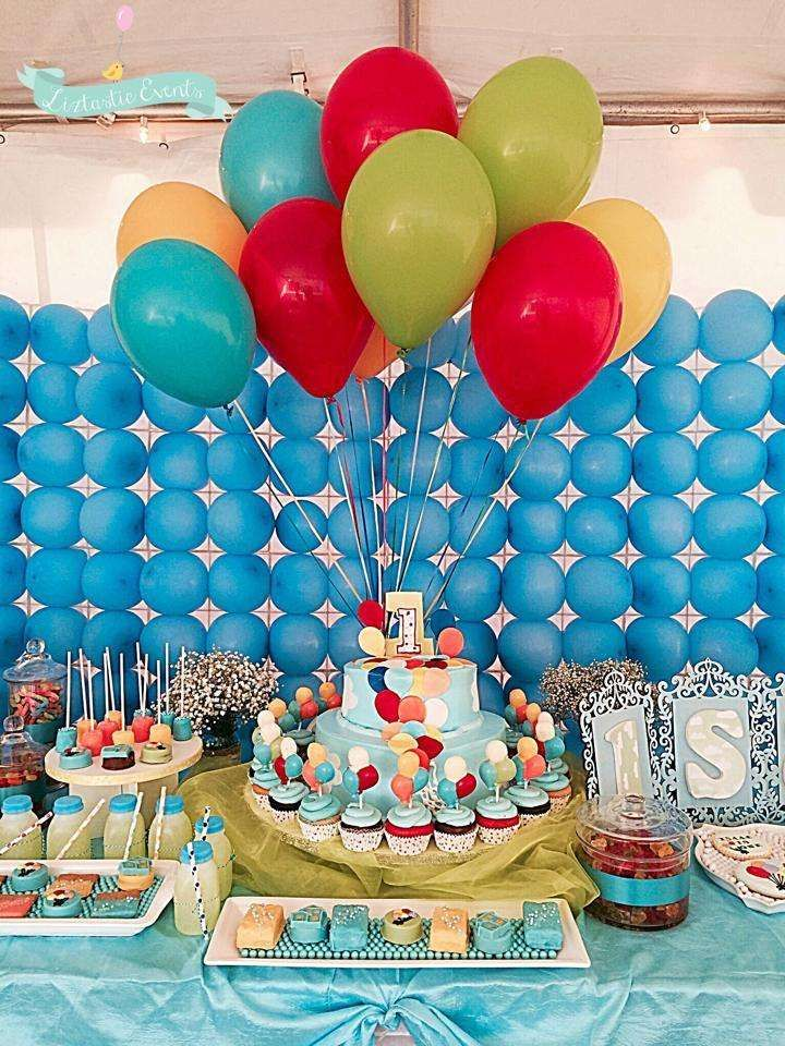 Up Balloon Birthday Party dessert table!  See more party planning ideas at CatchMyParty.com!