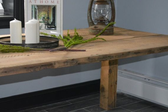 Rustic Farm Table Dining Table Kitchen Table by RepurposedPast