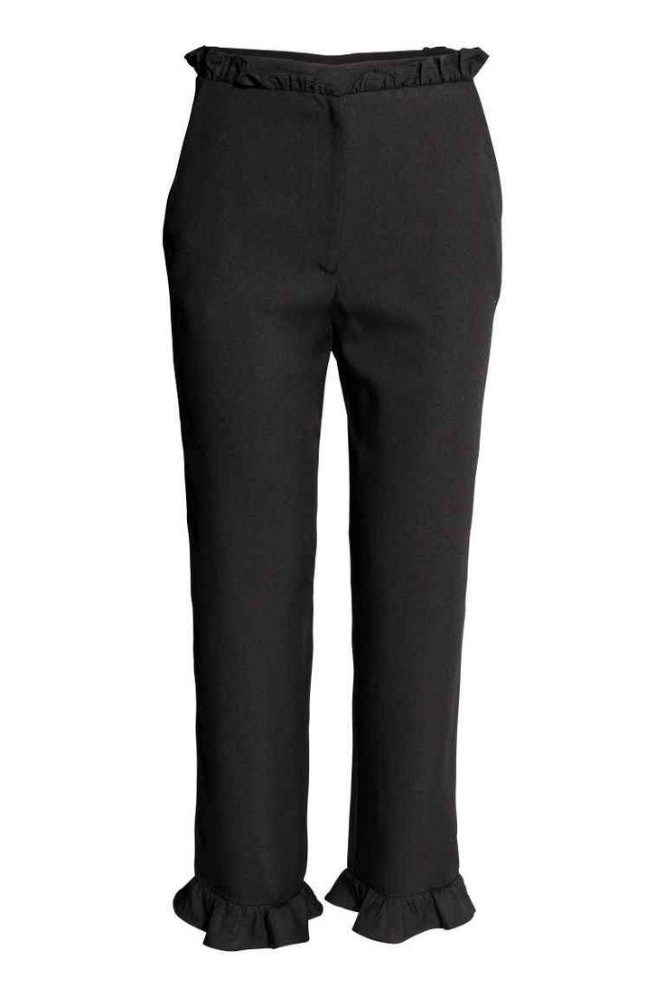Pantalon à volants - Noir - FEMME | H&M FR