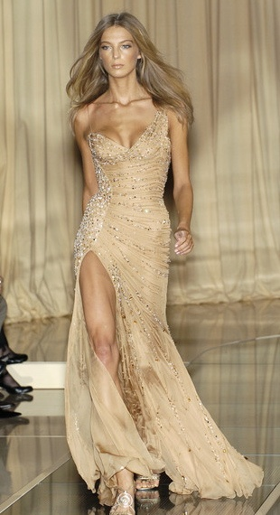 Beautiful Beaded Gold Versace Gown Luv The One Shoulder