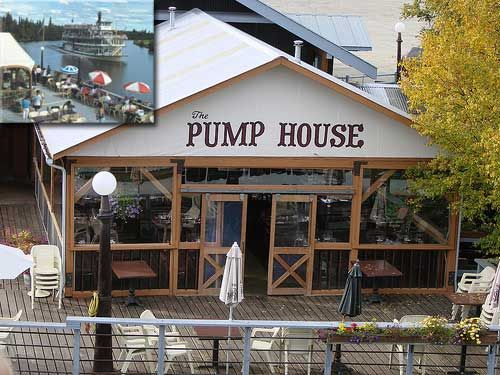 """PUMP HOUSE (Fairbanks, AK) has fresh Alaskan Salmon delivered to the dock by floatplane. The prime beef is aged 21 days to insure maximum flavor. The Senators Saloon features """"The World's Most Northern Oyster Bar"""" where the succulent oysters are flown in fresh from Seattle on Alaska Airlines. The wine list features the best wines of the Pacific Northwest."""
