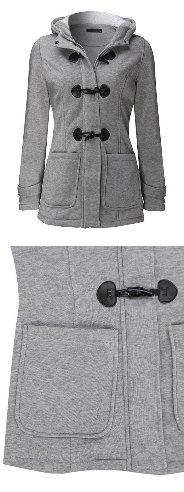 V christina jackets casual women long sleeve solid color hooded horn buttons coat #jackets #debenhams #jackie #o #jackets #jules #b #jackets #logo #7 #jackets