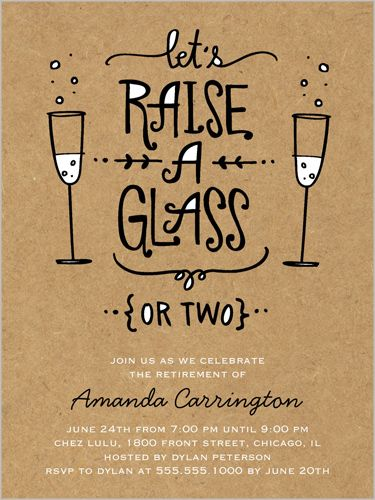 Raise Your Glass 4x5 Stationery Card by Stacy Claire Boyd | Shutterfly