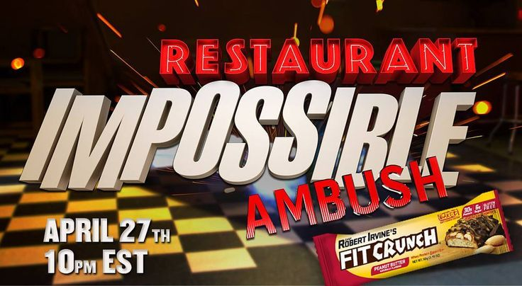 @fitcrunchbars will be featured on tonights episode of Restaurant Impossible on the Foodnetwork April 27th at 10pm EST!! TUNE IN!! #teamfitcrunch #fitcrunchbars #fitcrunchbar #Fitelitebars #fitelite #robertirvine #npc #ifbb #npcbikini #bodybuilding #muscle #physique #healthy #protein #fitfam #glutenfree #proteinbar #foodie #foodnetwork by arlenemfit