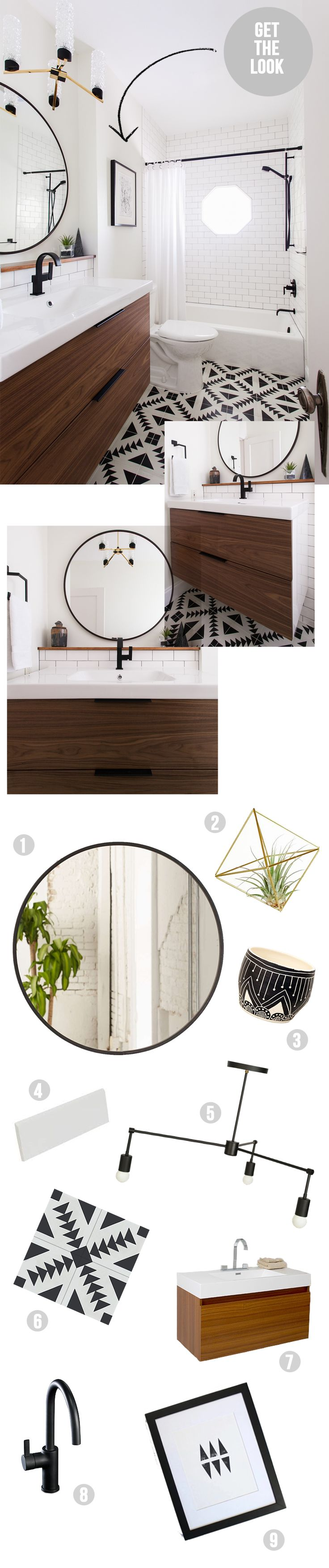 get the look bathroom (Amber Interiors)