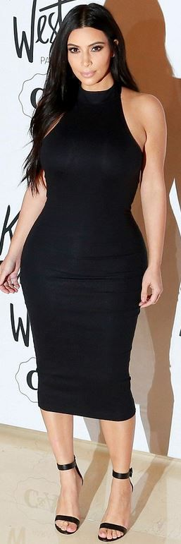 Kim Kardashian: Dress – Kanye West and Kim Kardashian  Shoes – Gianvito Rossi