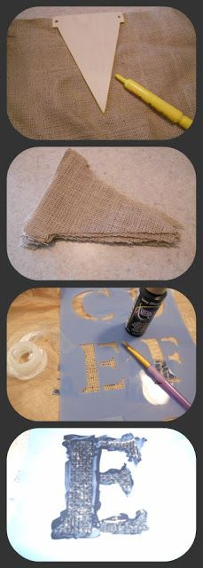 How to make burlap banner