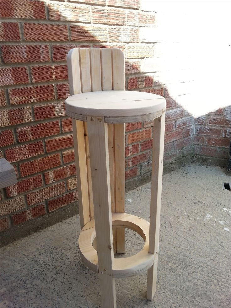 High Quality High Stool / Chair Made From Reclaimed Pallet Wood U0026 Plywood Pictures Gallery