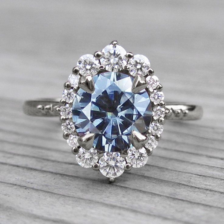 Moissanite Rings Vintage Dark Grey