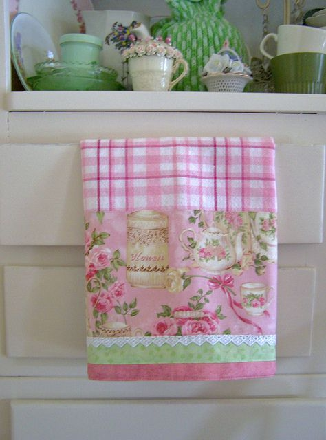 Tea towels made decorative - chic shabby! by Decorative Towels - Created by Cath., via Flickr