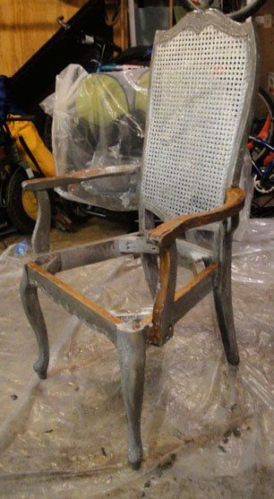Extreme Makeover for a Wooden Rattan Backed Chair - Pretty Handy Girl
