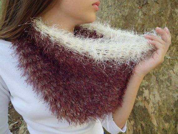 Cowl scarfinfinity scarfhand knitted by PopisBOUTIQUE on Etsy
