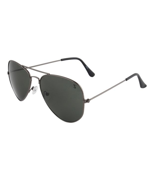 Zyaden Avzy-2 Black Metal Aviator Sunglasses For Men and Women