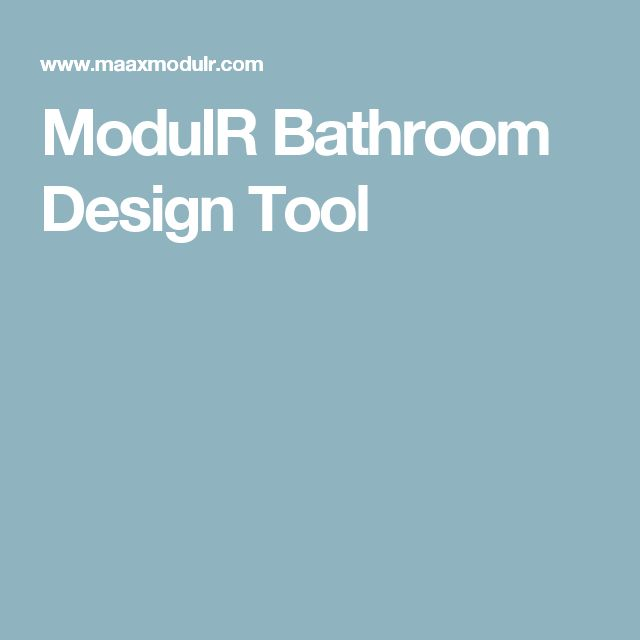 ModulR Bathroom Design Tool