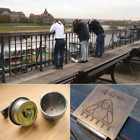 Touched echo: Invisible Memorial for the Bruehlsche Terrasse in Dresden - Core77