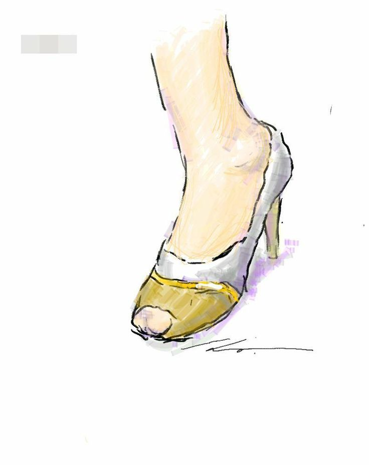 It is a sketch of high heels.  I drew while commuting on a train with the GALAXY Note.