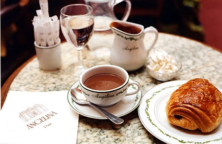 Angelina Café, Paris, is the place to go for the best hot chocolate.