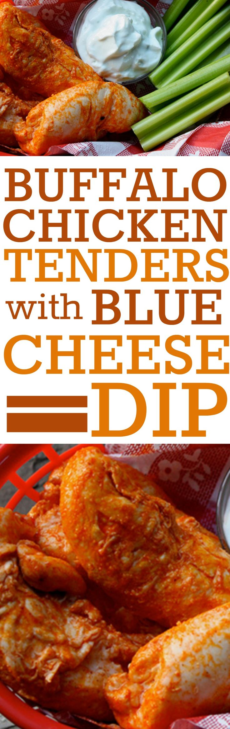 Buffalo Chicken Tenders with Blue Cheese Dip #chickentenders #healthychickentenders #buffalochickentenders #healthybuffalochicken #healthybuffalochickentenders #healthychickentenders #chickentenders #cleaneatingchickentenders #cleaneatingchickenrecipes #healthychickenrecipes