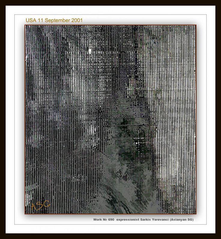 """""""USA 2001"""" - Изобразительное искусство - Масло, акрил"""
