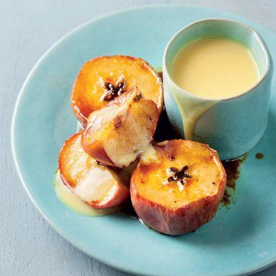 Taste Mag | Baked caramelised apples and custard @ http://taste.co.za/recipes/baked-caramelised-apples-and-custard/